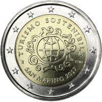 San Marino 2017 2 € Kestävän matkailun kehittämisen vuosi UNC