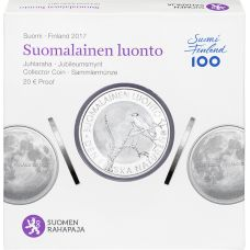 Suomi 2017 20 € Suomalainen luonto HOPEA PROOF