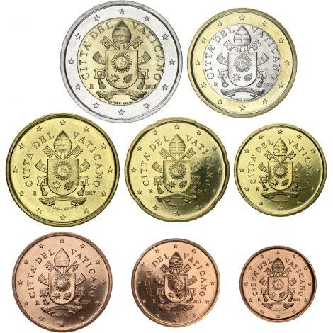 Vatikaani 2019 1 c - 2 € Irtokolikot UNC
