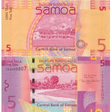 Western Samoa 5 Tala 2017 P38 UNC