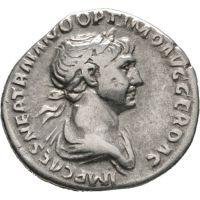 Rooman valtakunta 98-117 Denar HOPEA