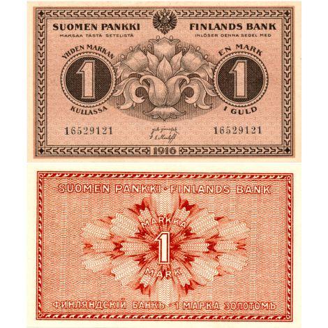 Suomi 1916 1 Markka P19 KL9