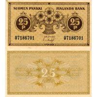 Suomi 1918 25 Penniä P33 KL9