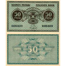 Suomi 1918 50 Penniä P34 KL9