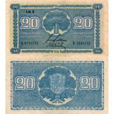 Suomi 1945 20 Markkaa Litt B P86 KL8