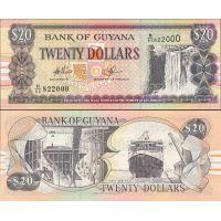 Guyana 1996-2016 20 Dollars P30e UNC