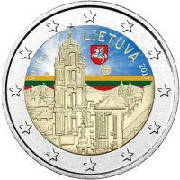 Liettua 2017 2 € Vilna VÄRITETTY