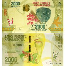 Madagaskar 2017 2000 Ariary UNC