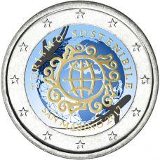 San Marino 2017 2 € Kestävän matkailun kehittämisen vuosi VÄRITETTY