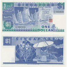 Singapore 1987 1 Dollar P18a UNC