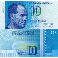 Suomi 1986 10 Markkaa P113a UNC