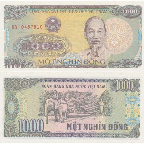 Vietnam 1988 1000 Dong P106a UNC