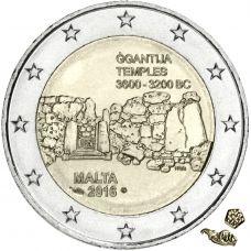 Malta 2016 2 € Ggantijan temppelit MdP UNC