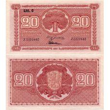 Suomi 1922 20 Markkaa Litt C P63 KL8-9