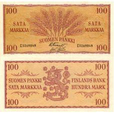 Suomi 1957 100 Markkaa P97 KL9