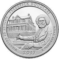 "USA 2017 $0,25 DC Frederick Douglass National Historic Site ""P"" UNC"