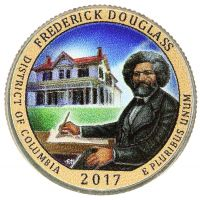 "USA 2017 $0,25 Frederick Douglass National Historic Site ""P"" VÄRITETTY"