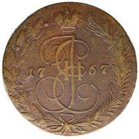 Venäjä 1767 5 kopeekkaa