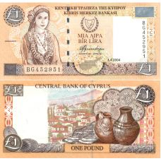 Kypros 2004 1 Pound P60d UNC