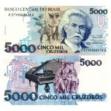Brasilia 1993 5000 Cruzeiros P232c UNC