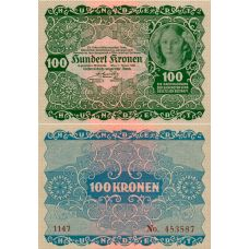 Itävalta 1922 100 Kronen P76 UNC