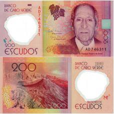 Kap Verde 2014 200 Escudos P71 UNC