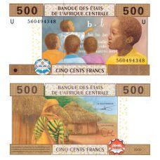 Keski-Afrikka 2002 500 Frangia P206U UNC