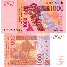 Senegal 2003 1000 Frangia P715Ka UNC
