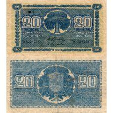 Suomi 1945 20 Markkaa Litt B P86 KL2-4