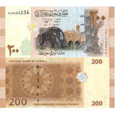 Syyria 2009 200 Pounds P114 UNC