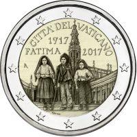 Vatikaani 2017 2 € 100 vuotta Fatiman ilmestyksestä UNC
