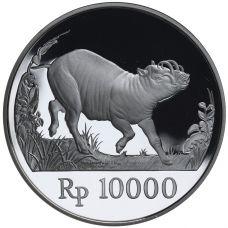 Indonesia 1987 10000 Rupiah Villieläimet HOPEA