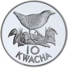 Sambia 1986 10 Kwacha Maailman Luonnon Säätiö HOPEA
