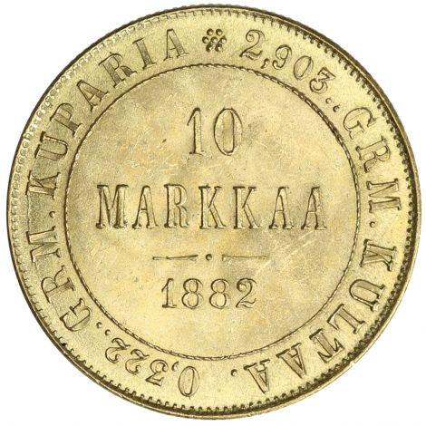 Suomi 1882 10 Markkaa KULTA