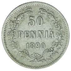 Suomi 1890 50 Penniä KL4