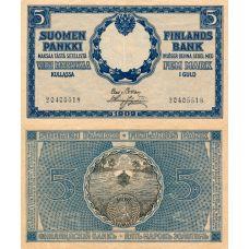 Suomi 1909 5 Markkaa P9 KL6-7