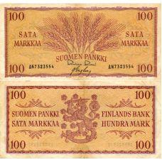 Suomi 1957 100 Markkaa P97 KL5