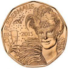 Itävalta 2015 5 € Lepakko UNC