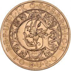 Itävalta 2017 10 € Enkeli Gabriel UNC