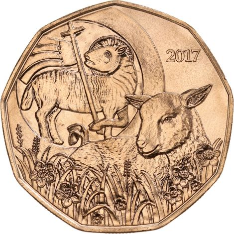 Itävalta 2017 5 € Pääsiäislammas UNC