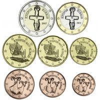 Kypros 2018 1 c – 2 € Irtokolikot UNC