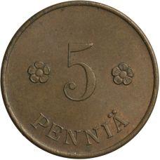 Suomi 1918 5 Penniä KL6-7