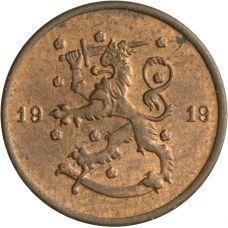 Suomi 1919 1 Penni KL7-8