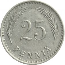 Suomi 1921 25 Penniä KL6