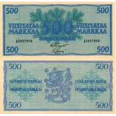 Suomi 1956 500 Markkaa P96a KL8-9