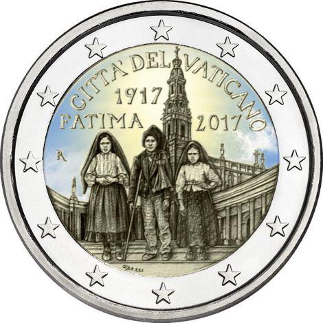 Vatikaani 2017 2 € 100 vuotta Fatiman ilmestyksestä VÄRITETTY