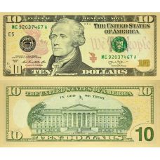 Yhdysvallat 2013 $10 P540 UNC