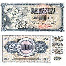 Jugoslavia 1978 1000 Dinara P92c UNC