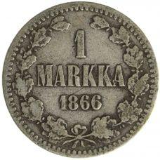 Suomi 1866 1 Markka KL2