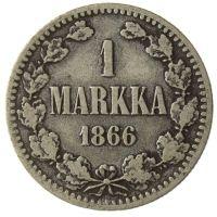 Suomi 1866 1 Markka KL3